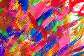 Soyut renkli fırça darbeleri arka plan — Stok fotoğraf