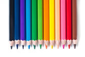 Row of colored pencils — Stock Photo