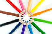 Group of colored pencils — Stock Photo