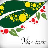 Abstract leaf illustration — Stock Photo