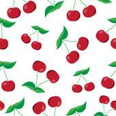 Cherries seamless pattern — Stock Vector