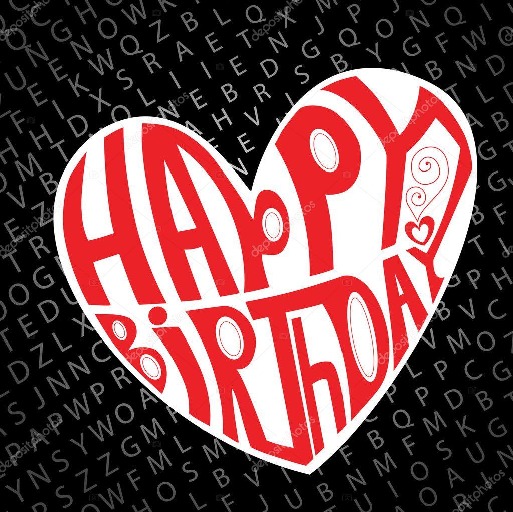 Happy birthday heart — Stock Vector © helenka #4065869
