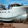 Boat repair - Stock Photo