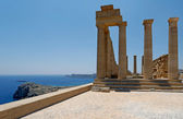 Acropolis of Lindos, Rhodes, Greece — Stock Photo