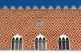 Ayrıntı Venedik valinin Sarayı. Rhodes, Yunanistan — Stok fotoğraf