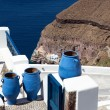 Blue Greek Urn - Stock Photo