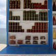 Sellers stand, Santorini, Greece — Stock Photo