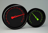 Two gauges — Stock Photo
