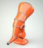 Cartoon-styled telescope — Stock Photo