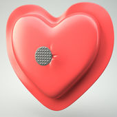 Heart pierced by a nail — Stock Photo