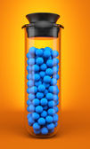 Test tube with spheres — Stock Photo