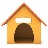Cartoon styled doghouse — Stock Photo