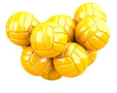 Golden volleyballs — Stock Photo