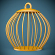 Stock Photo: Golden bird cage