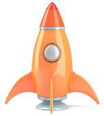 Cartoon-styled rocket — Stock Photo