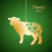 Gold sheep — Stock Vector