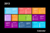Calendar for 2013 in style Windows 8 — Stock Vector