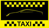 Taxi Cab Symbol on Yellow - Stock Illustration — Stock Vector