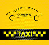 Racing orange background, taxi cab cover template. Vector 10eps — Stock Vector
