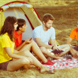 Group of Camping and Telling Stories — Stock Photo