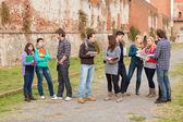 Groep van multiculturele studenten — Stockfoto