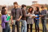 Grupa studentów wielokulturowe — Zdjęcie stockowe