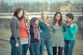 Group of Girls Outside — Stock Photo