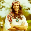 Hippie Portrait - Stockfoto