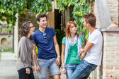 Group of Teenagers Outside — Foto de Stock