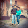 Young Couple of College Students — Stockfoto