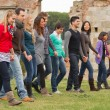 Multicultural Group of Walking Together — Stock Photo #12648886