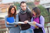 Multikulturelle studenten — Stockfoto