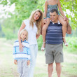 Happy Three Generations Family Outdoor — Stock Photo #12697035