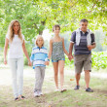 Happy Three Generations Family Outdoor — Stock Photo #12697037