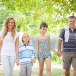 Happy Three Generations Family Outdoor — Stock Photo #12697039