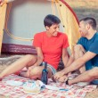 Royalty-Free Stock Photo: Young Couple Camping