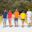 Royalty-Free Stock Photo: Group of Friends Walking Outside