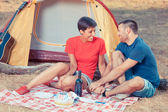 Young Couple Camping — Stock Photo