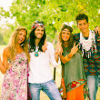 Hippie Group Outside — Stock Photo #12702049