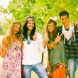 Stock Photo: Hippie Group Outside