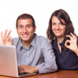 Two Happy Financial Consultants — Stock Photo