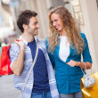 Young Couple with Shopping Bags - Stock fotografie