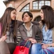 Three Beautiful Young Women with Shopping Bags - Stock fotografie