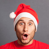 Young Man with Santa Hat — Stock Photo