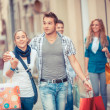 Group of Friends with Shopping Bags — Stock Photo #12859671