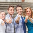 Group of Friends with Thumbs Up — Stock Photo #12862388