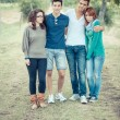 Group of Teenage Friends Outdoor — Stock Photo #12863850