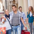 Group of Friends with Shopping Bags — Stockfoto