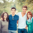 Group of Teenage Friends Outdoor — Stock Photo #12869177
