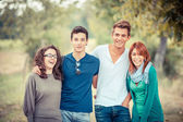 Group of Teenage Friends Outdoor — Stockfoto